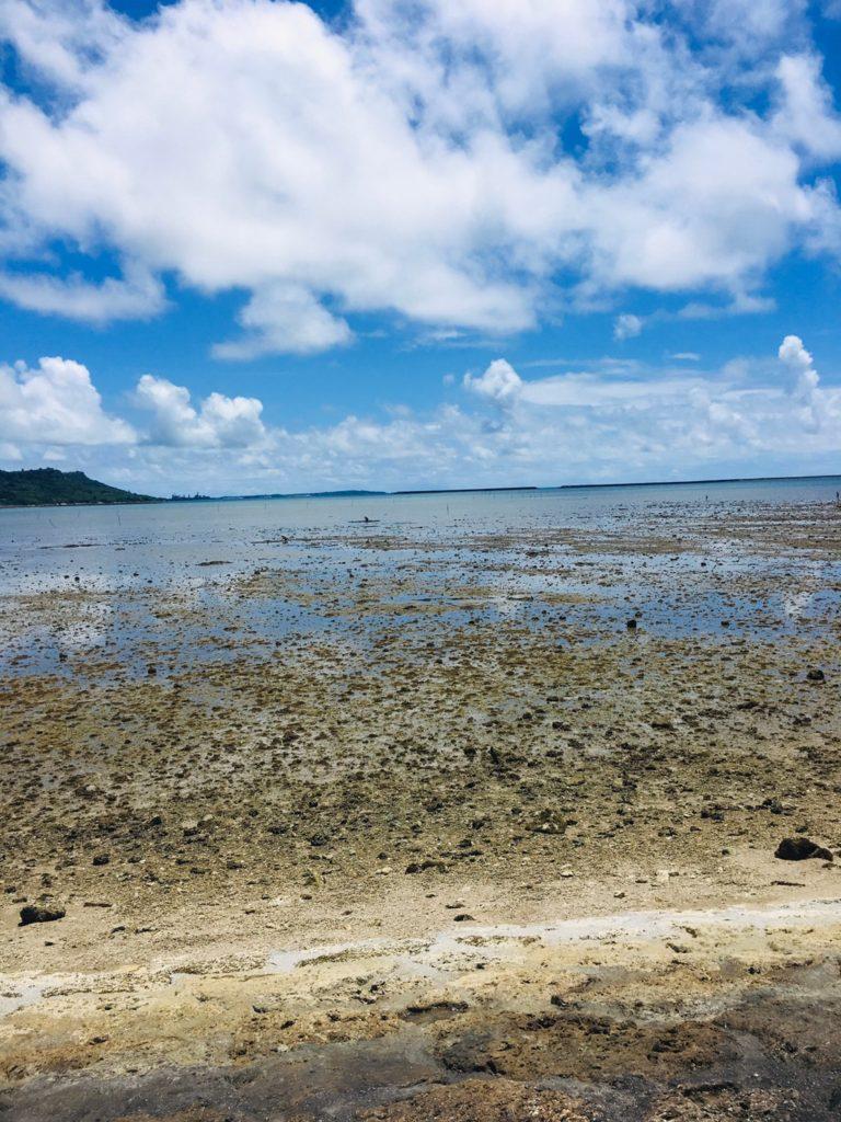 干潮時の浜の風景