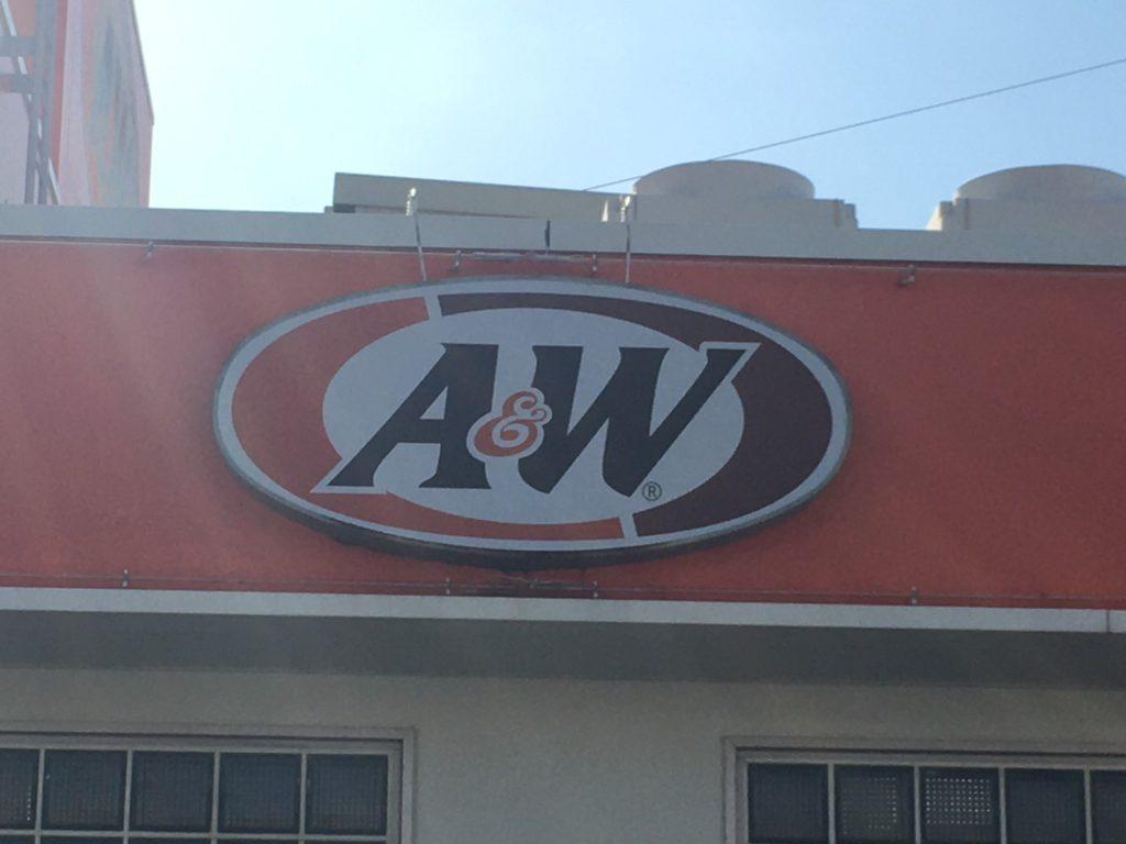 A&Wの看板