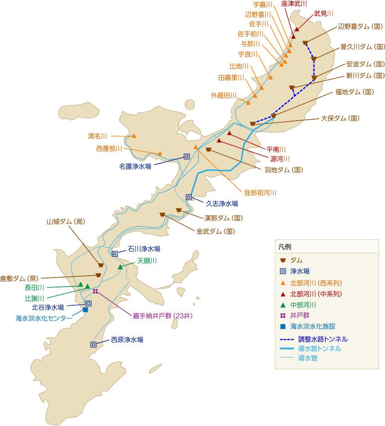 沖縄の浄水場