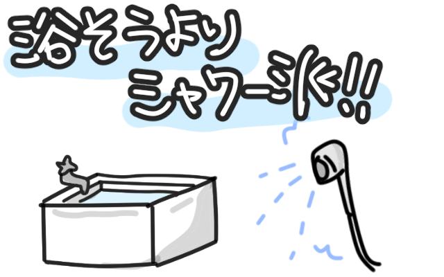 浴槽とシャワー派