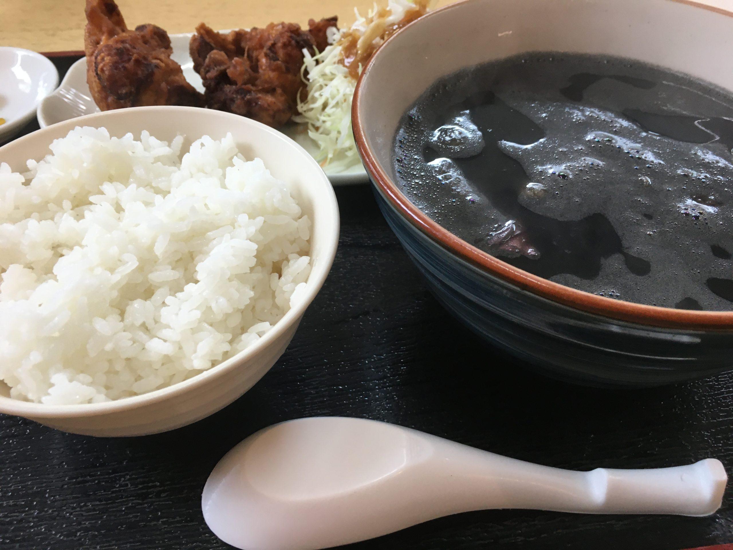 イカ墨汁定食