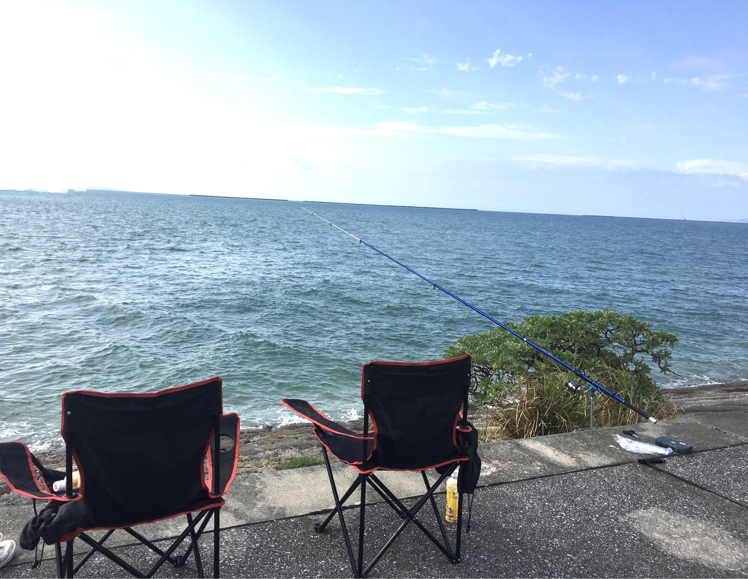 海辺で一休み